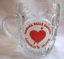 Vintage Niagara Falls Canada Lover's Nut Thumbprint Large Glass Mug Cup