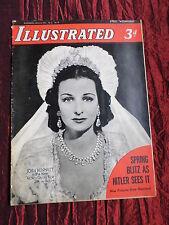 JOAN BENNETT - ILLUSTRATED - UK VINTAGE  MAGAZINE - 8 MAR 1941