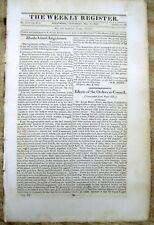 < 1813 War of 1812 newspaper U.S. FORCES CAPTURE YORK (Toronto) CANADA Niagara