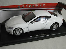 Motor Max 1/18 Maserati Gran Turismo WHITE 79151  MMX011