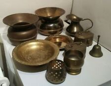 10 Piece Lot of Vintage India Brass Collectibles