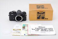 Nikon New FM2 35mm SLR Film Camera Black Body in Box From Japan