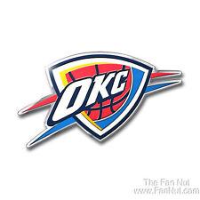 Oklahoma City Thunder OKC 3D COLOR Chrome Auto Emblem Home Decal Basketball