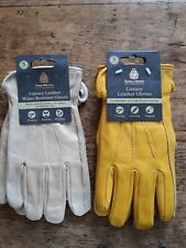 2 x Kent & Stowe  Luxury Leather Gardening Gloves Size S Ladies small