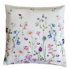 Kissenhülle Frühling Blumen 40x40 Kissen Blumenwiese weiß bunt Dekokissen Typ520