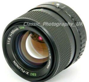 FUJI Photo FILM Japan EBC X-FUJINON 1:6 f=55mm DM FUJICA 35mm SLR & DIGITAL fit
