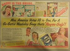 Super Suds Ad: Mrs America Votes 10 to One for Super Suds ! 1940's