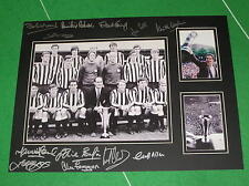 Newcastle United 1969 Fairs Cup Winners Mount MultiSigned x 12 Moncur Robson etc