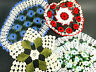 Vintage Lot of 5 Crochet Doilies Excellent Used Condition