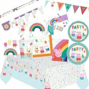 Peppa Pig Party Supplies Birthday Party Tableware Decorations and Balloons.