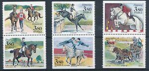 [337862] Sweden 1990 horses good set very fine MNH stamps