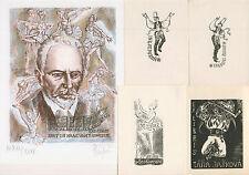 10 Ex libris Exlibris Balet, dance, Tchajkovsky by V. artist