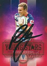 ✺Signed✺ 2017 MELBOURNE REBELS Rugby Union Card REECE HODGE Young Stars