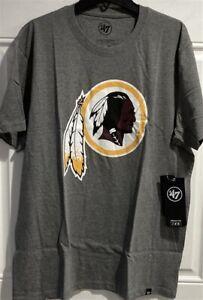 Washington Redskins NFL '47 Brand Slate Grey Men's Super Rival Tee Shirt New