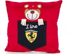 Ferrari Teddy Bear Denim Pocket Pillow