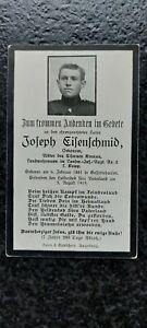 Sterbebild Vogesen Lingekopf 1915 LIR