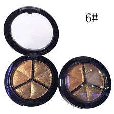 NEW 3 Colors Eyeshadow Natural Smoky Cosmetic Eye Shadow Palette Set Make Up