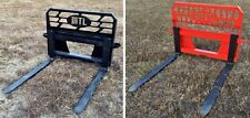 "HD MTL 48"" adjustable 5k lb Fork Lift -Forks attachment twin side step 139 ship"