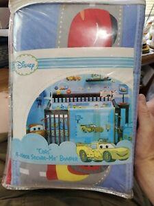 Disney Pixar Cars Yellow & Light Blue 4 piece Secure Me Bumper Set