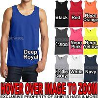 Young Mens PRESHRUNK Tank Top Sleeveless T-Shirt Tee XS-XL 2XL, 3XL, 4XL NEW