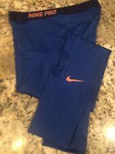 NEW $48 Women's Nike Pro Cool Dri Fit Athletic Pants Sz. L - Blue tones w/Pink