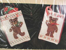"""Counted Cross Stitch Kit Sealed """"Teddy Totes"""" 1989"""