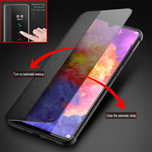 Original Smart Clear View Flip Case Cover For Huawei P40 P30 P20 Pro P20 Lite
