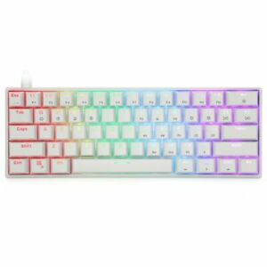 GK61 Key Mechanical Keyboard USB Wired LED  Gaming yellow switches