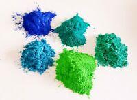 5 x Effektpigment Metallicpigment Einfärben Epoxidharz für ca. 50 kg