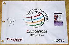 DUSTIN JOHNSON Signed 2016 Bridgestone Flag - JSA COA - 2016 US Open Champ