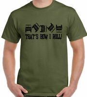 4x4 T-Shirt That's How I Roll Mens Funny Off Roading 4x4 90 110 SVX