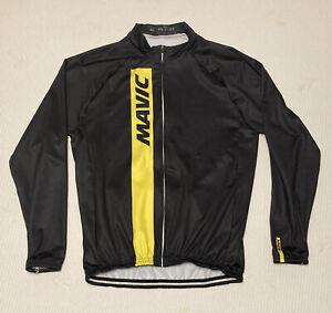 Mavic Mens Cycling Fleece Full Zip Jacket  / Jersey XL Black