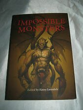 Impossible Monsters Kasey Lansdale Joe Lansdale Neil Gaiman SIGNED x3 2013 HCDJ
