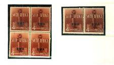 SOUTHWEST AFRICA 1941/42 WAR EFFORT 4d MINT MULTIPLES VFINE