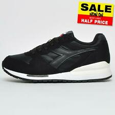 Diadora Intrepid NYL Mens Classic Heritage Retro Sneakers Trainers Black