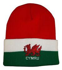 Wales Rugby Red White Green Bronx Beanie Hat - Cymru Rugby