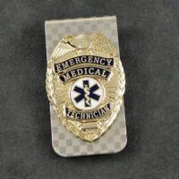 EMT Emergency Medical Technician Rescue 911 Badge Money Clip Silver NEW