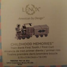 Lenox Childhood Memories Train Bank First Tooth/ First Curl