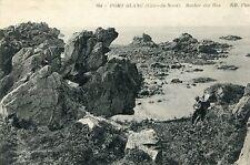 Carte PENVENAN Port Blanc Rocher des Iles Un homme assis