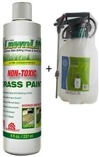 DIY KIT Lawn Grass Turf Colour Paint  + Pump Sprayer. Non-Toxic. Instant Results