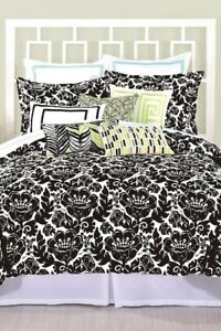 Trina Turk Louis Nui Standard SHAM Bedding Bed Black White Classic NIP