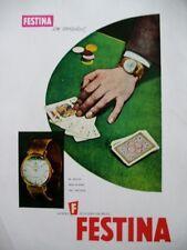 PUBLICITE DE PRESSE FESTINA MONTRE CASINO LA HORA DEL RELOJ SPANISH AD 1962