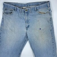 MENS LUCKY BRAND JEANS STRAIGHT LEG FADED DAMAGED STONEWASHED SIZE 42