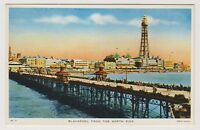 Lancashire postcard - Blackpool from the North Pier