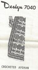 Crocheted Afghan Pattern (7040) Vintage New