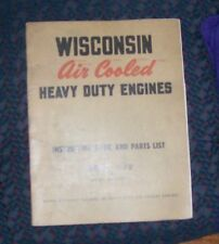 Wisconsin Engine Model S-7D Instruction Book and Parts List manual