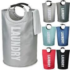 Large Collapsible Washing Laundry Basket Fabric Bag Foldable Laundry Hamper New