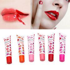 6 Colors Lip Gloss Tattoo Magic Peel Off Mask Tint Long Lasting Waterproof