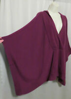 Eileen Fisher 100% Cashmere Hooded Poncho Cape Sweater Arm Slits OS