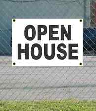 2x3 Open House Black & White Banner Sign New Discount Size & Price Free Ship